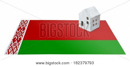 Small House On A Flag - Belarus