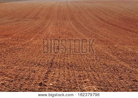 Background of field ready for new crops.Earth in a field for agricultural cultivations.