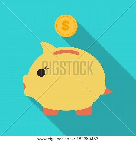 Donation piggybank icon in flate design isolated on white background. Charity and donation symbol stock vector illustration.