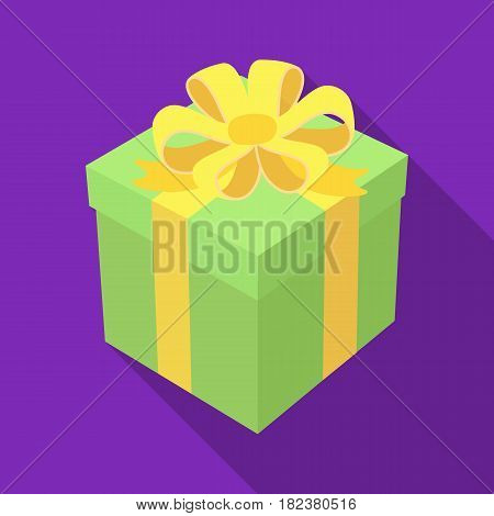Gift icon in flate design isolated on white background. Charity and donation symbol stock vector illustration.