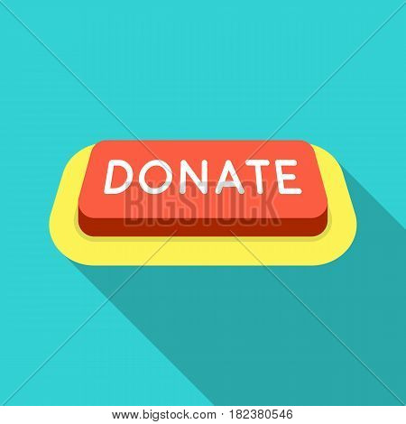Donate button icon in flate design isolated on white background. Charity and donation symbol stock vector illustration.