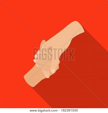 Hands holding icon in flate design isolated on white background. Charity and donation symbol stock vector illustration.