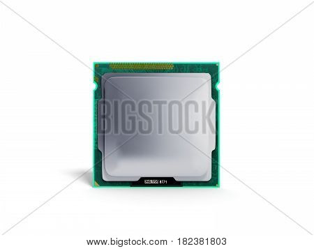 Computer Processors Cpu High Resolution 3D Render On White