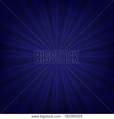 Vintage Blue Sunburst Poster