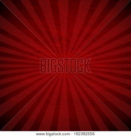Retro Red Sunburst Poster