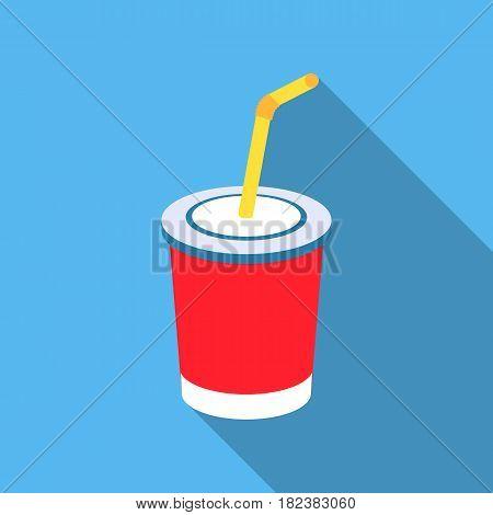 Coca-Cola vector illustration icon in flat design