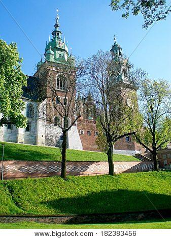 Wawel Castle In Krakow. Famous Place In Poland.