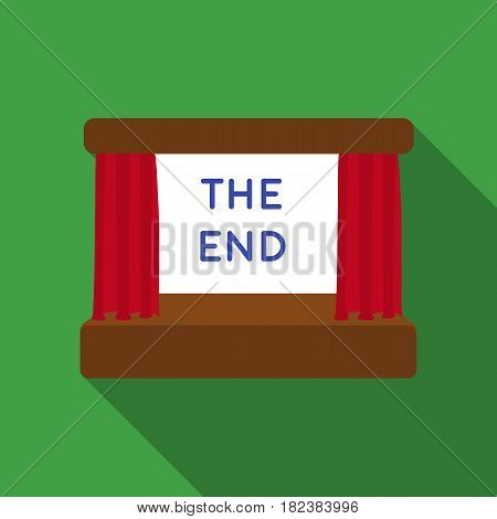 Movie screen icon in flat style isolated on white background. Films and cinema symbol vector illustration.