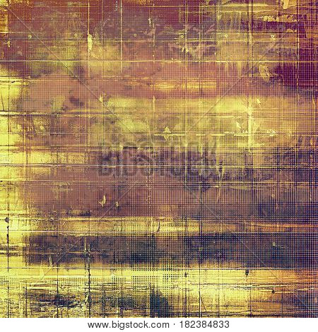 Vintage elegant background, creased grunge backdrop with aged texture and different color patterns: yellow (beige); brown; pink; red (orange); purple (violet)