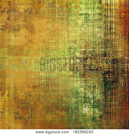 Art grungy texture, aged background with retro feeling. With different color patterns: yellow (beige); brown; green; gray; red (orange)