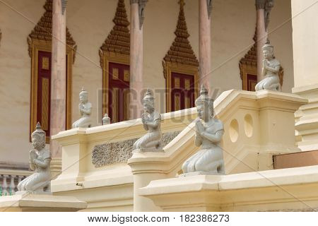 Phnom Penh, Cambodia - Jan 30 2015: Silver Pagoda(wat Preah Keo Morokot). A Famous Historical Site I