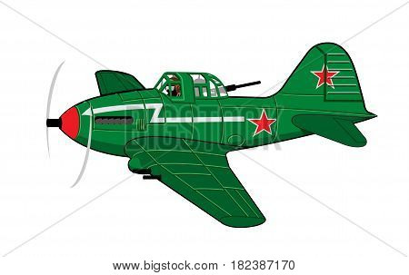 Vector Cartoon Attack Plane. Available EPS-10 vector format separated by groups and layers for easy edit