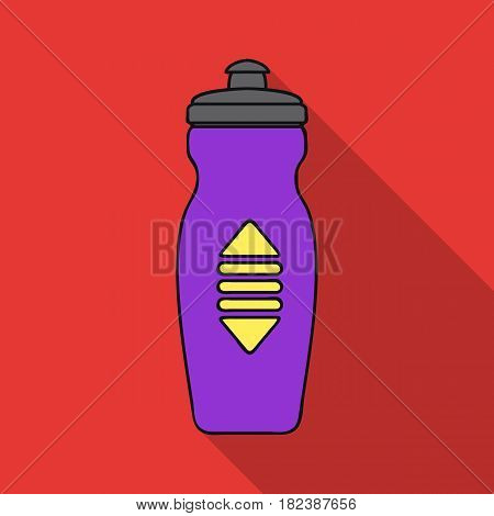 Water bottle icon in flat style isolated on white background. Sport and fitness symbol vector illustration.