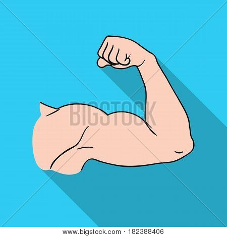 Biceps icon in flat style isolated on white background. Sport and fitness symbol vector illustration.