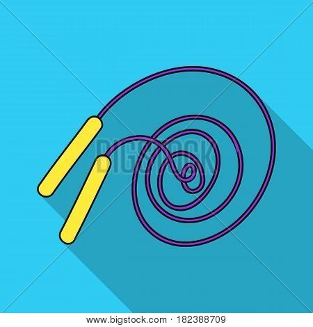 Jump rope icon in flat style isolated on white background. Sport and fitness symbol vector illustration.