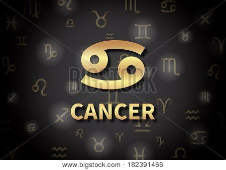 An Illustration Representing The Zodiac Sign Of Cancer