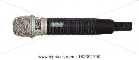 wireless microphone with display on a white background
