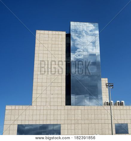 BARCELONA, SPAIN - JULY 13, 2016: Barcelona (Catalunya Spain): modern buildings near the Sants rail station