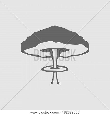 Mushroom cloud nuclear explosion vector icon eps 10. War symbol.
