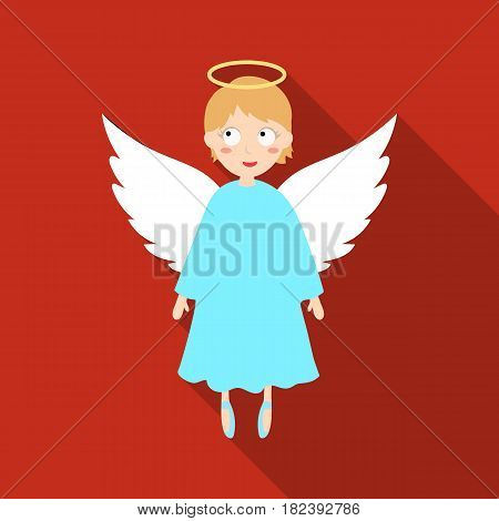 Soul icon in flat design isolated on white background. Funeral ceremony symbol stock vector illustration.