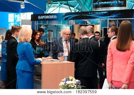 Minsk, Belarus - April 18, 2017: Visitors And Exhibitors On Tibo-2017 The 24Th International Special