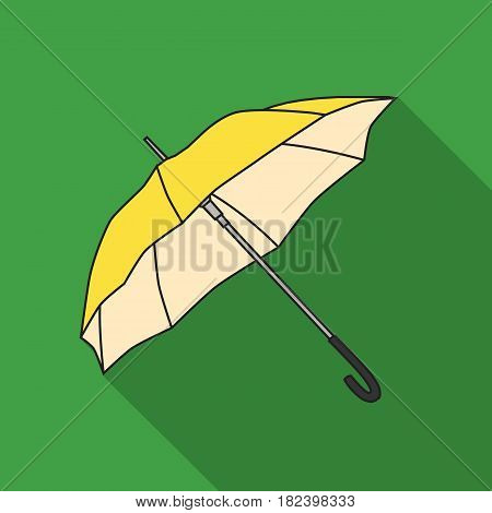 Parasol icon in flat style isolated on white background. Golf club symbol vector illustration.