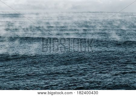 Evaporation of Barents Sea in Arctic Ocean.