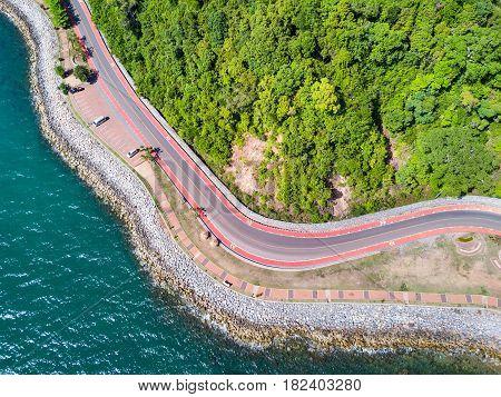 Coastal Road To Nang Phaya Hill