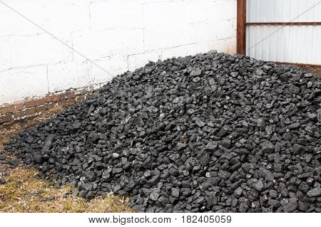 A bunch of anthracite closeup for heating