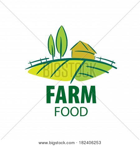 template design of logo farm food. Vector illustration icon
