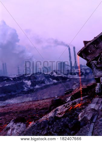 Steel industry against the background of  Metallurgy plant