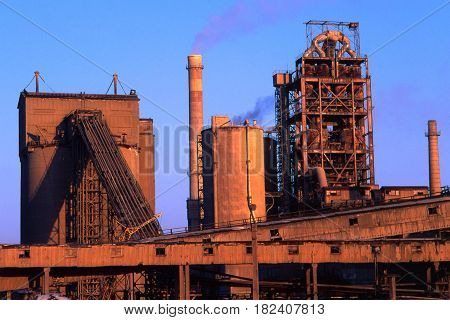 Metallurgy Plant against the background of the sky