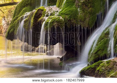 Bigar waterfall, one of the most beautiful mountain waterfalls in the world