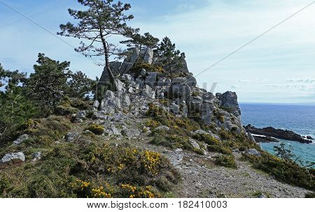 Coast of Brittany at Ile Vierge Finist