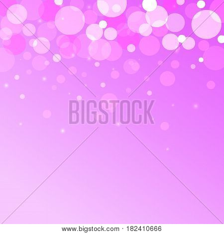 bokeh effect vector abstract background on pink backgraund