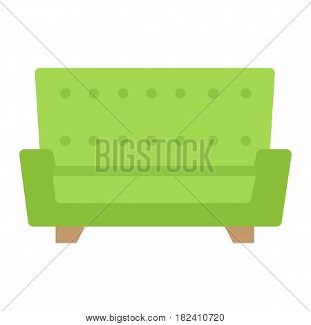 Sofa flat icon, Furniture and interior element, couch vector graphics, a colorful solid pattern on a white background, eps 10.