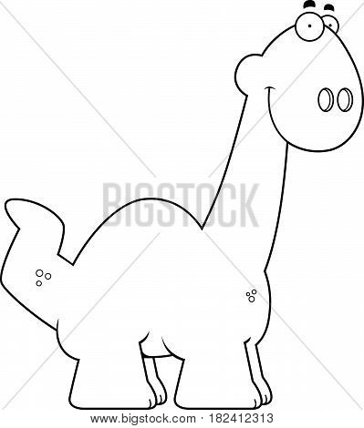 Smiling Cartoon Apatosaurus