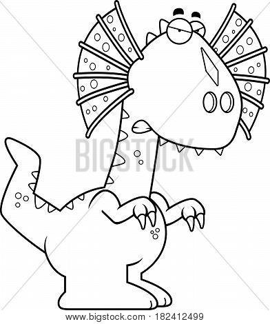 Angry Cartoon Dilophosaurus