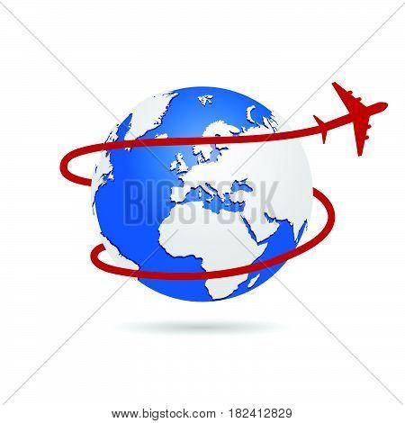 Flying Around The World Illustration One
