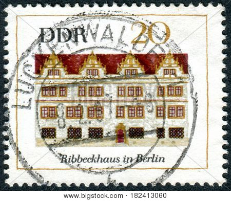 GERMANY - CIRCA 1967: A stamp printed in Germany (GDR) shows the Ribbeck House Berlin circa 1967