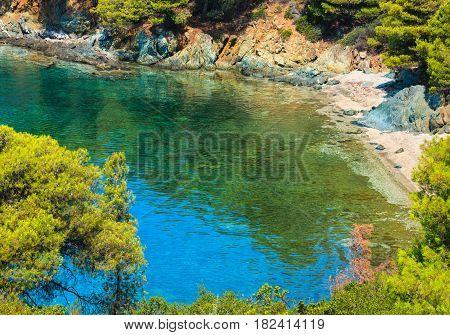 Summer Aegean Coast, Sithonia, Greece.