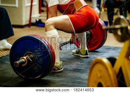 athlete powerlifter exercise deadlift competitions in powerlifting