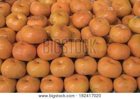 Persimmon sweet summer fruit faw fresh food