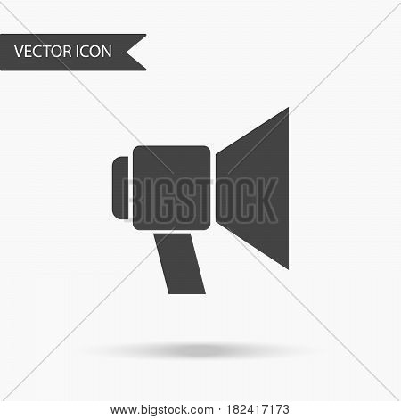 Vector business icon loudspeaker. Icon for for annual reports charts presentations workflow layout banner number options step up options web design. Contemporary flat design.