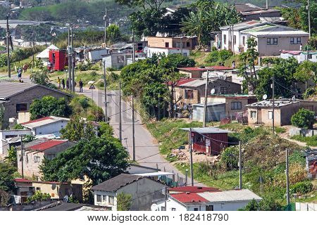 View Of Crowded Low Cost Residential Housing Settlement