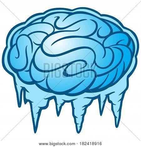 A vector concept illustration of Brain Freeze.