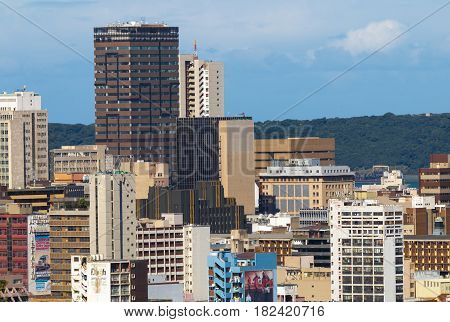 Buildings In Central Business District  In Durban, South Africa