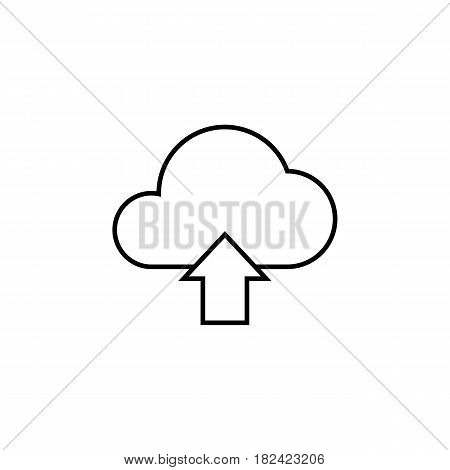 Cloud upload line icon, web mobile application, upload button, a linear pattern on a white background, eps 10.