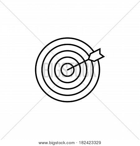 Target keyword line icon, seo and development, Darts sign, a linear pattern on a white background, eps 10.