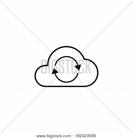 Cloud sync line icon, seo and development, network sign, a linear pattern on a white background, eps 10.